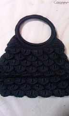 黒レース編みミニバック