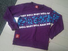 BABY DOLL◆ベビードールレオパード柄ロゴロゴロンT紫110