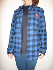 送料無料☆ローリングストーンワッペンチェックシャツ☆M