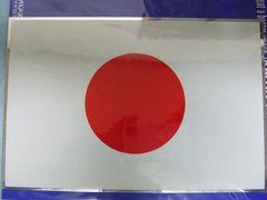 靖国神社内シルバー枠付き日の丸ステッカー特大日章旗/水