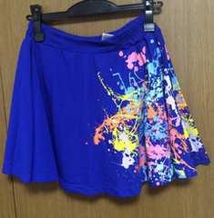 Я】PJ購入  ペイントスカート ブルー サイズM