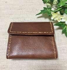 新品未使用リアルレザー二つ折りウォレット財布