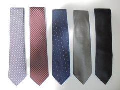 ネクタイ 各種 SILK シルク 絹 100% 5本セット ほぼ未使用品