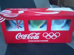 コカコーラオリジナルオリンピック協賛記念アルミタンブラー3個セットWチャンス当選品�B未開封