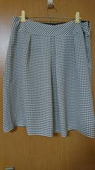 W80 ギンガムチェックフレアスカート
