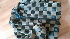 編み込みラムレザージャケット