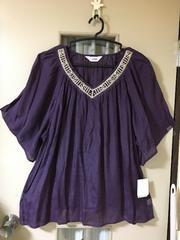 ブラウスチュニック・紫色(4L)