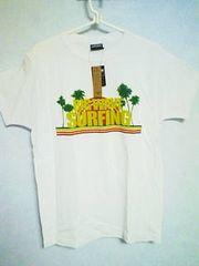 Tー92★新品★半袖サーフ系Tシャツ ホワイト L