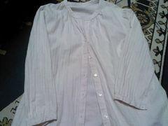 うすぴんくシャツ七分丈