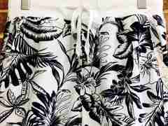 実寸M/新品!フラワープリント 花柄 スウェット系 ショートパンツ 白 サーフ ヒッピー