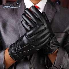 手袋 メンズ 革手袋 レザーグローブ 革 スマホ手袋 ブラック