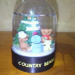 Country Bearsパウダースノー置物