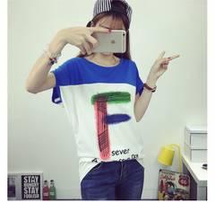 1022-601379大きいサイズ☆切り替えドルマンロゴTシャツ/ブルー