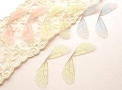 シフォン蝶の羽2枚イエロー