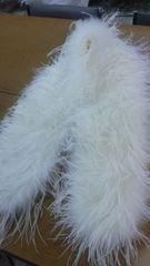 羽毛ショール。ホワイト。