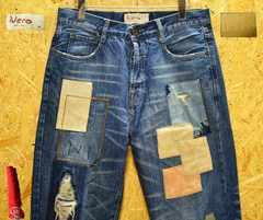◆廃盤◆Neroネロ ダメージ・リメイクジーンズ・W84cm・股下70cm