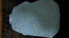 水色春ぽい七分袖シャツ。大きいサイズLL☆お尻隠れる☆