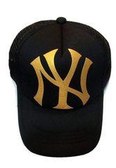 新品ニューヨークヤンキース★メッシュキャップ★スナップバックNYブラックゴールド