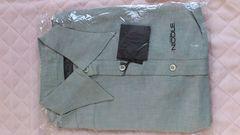訳あり激安85%オフニコル、半袖シャツ(新品、灰、日本製、M)
