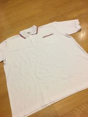 Arakai sports  カノコ半袖ポロシャツ  白  赤黒ライン  sizeXXXL