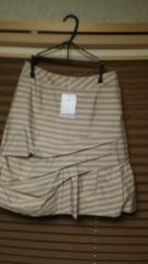 新品 fou foret 方のカッコいいボーダースカート