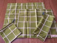 格安!シンプル!ハンドメイド テーブルクロス、コップ袋、箸袋