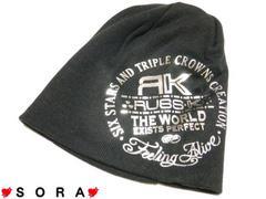 【RUSS・K/ラスケー】シルバーロゴ箔ニットワッチ ニット帽