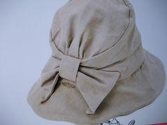 QUEEN HEAD帽子58.5cm新品薄茶色紐付き