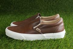 【VANS】オールレザー【C Slip On】LUX LEATHER 25.0�a