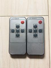 新品!ヘッドレストモニターリモコン!2ケセット!