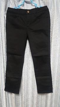 美品な黒のパンツ★裾スリット★ウエスト64cm