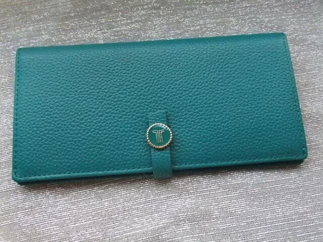 新品13200円■ランバンコレクション■サンミッシェル2つ折り長財布 ブルー < ブランドの