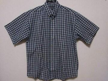 即決USA古着●鮮やかチェックデザイン半袖シャツ!アメカジヴィンテージレア