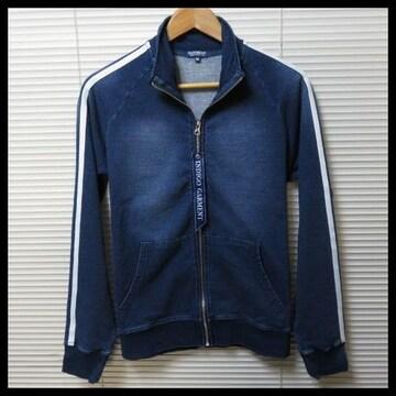 新作インディゴカットデニムトラックジャケット/NAVY/L