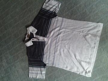 夏ポロシャツ ブルーサーフ系