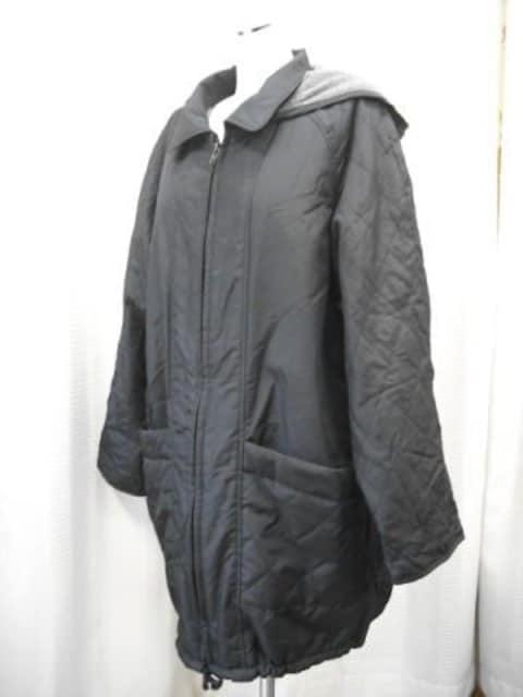 【男性用】中綿入り黒のコート  < 男性ファッションの