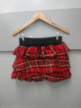 TRALALA☆チェック柄段々スカート