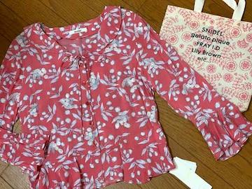 スナイデル刺繍さくらんぼ花柄ブラウス