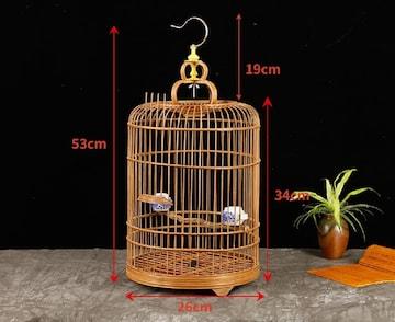 竹製 鳥かご バード ハンドメイド ペット ペットゲージ