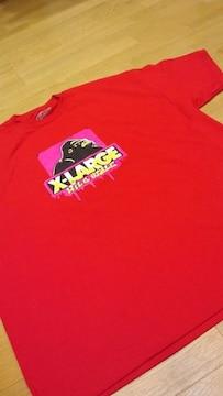 LA直輸入 X−LARGE 赤RED サイズ4XLXXXXL エックスラージTシャツ