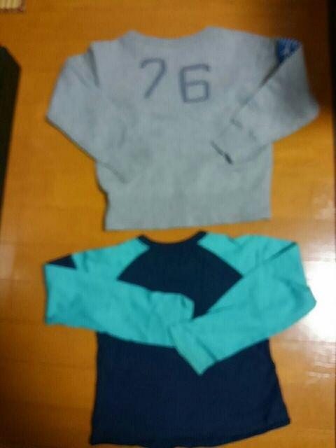 ☆美品☆パーソンズ☆トレーナー&長袖Tシャツ 2点セット☆110120 < キッズ/ベビーの
