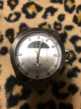 ディーゼル 腕時計 DZ-1689 稼働品 デニム ベルト 美品