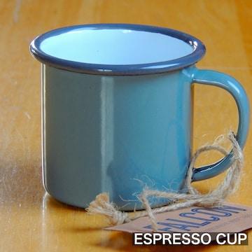ファルコンFALCON英国伝統ホーローエスプレッソカップ グレー