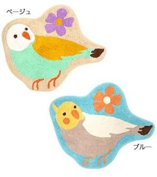 インコマット★オカメインコ★玄関/バス/キッチンマット★十姉妹