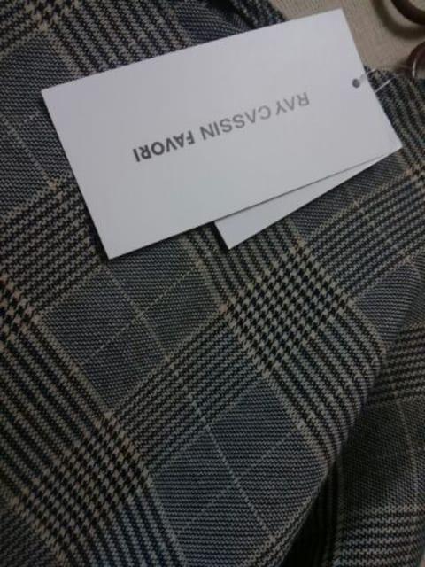 ●Ray Cassin●グレンチェック サイド切替ワンピース 新品gray < ブランドの