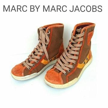 MARC JACOBS ハイカット スニーカー スウェード レザー