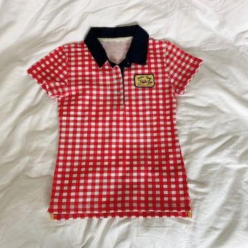 サマンサタバサ チェック ポロシャツ 赤#S
