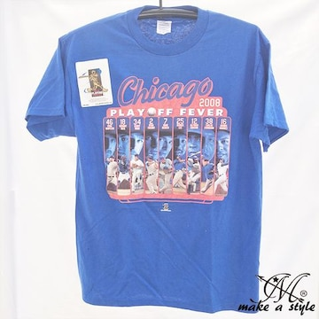 CHICAGO CUBS MLB シカゴ カブス TEE Tシャツ 青 2008 174 M