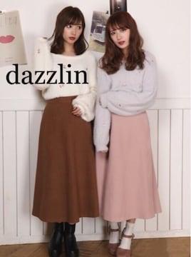 定価7,452円  dazzlinダズリン  ボリュームロングフレアスカート