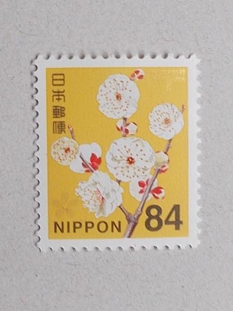 ★☆普通郵便切手★☆未使用★☆84円ウメ★☆1枚★☆  < ホビーの
